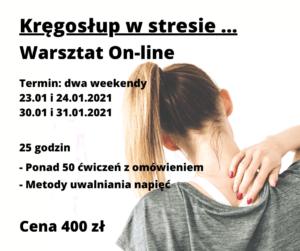 Kręgosłup w stresie – warsztat on-line